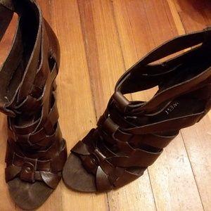 Nine west women sandals leather